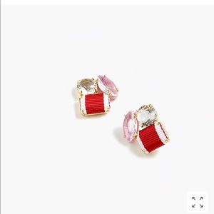 J. Crew Jewelry - J Crew Ribbon and Stone Earrings